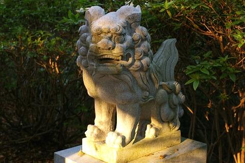 丸山神社狛犬(右)