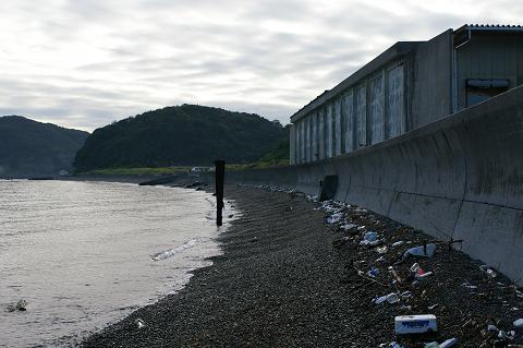 櫛木海岸東側(ヨット艇庫側)