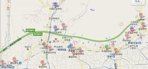 神社古墳相関地図