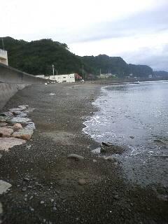 台風後の櫛木海岸東側