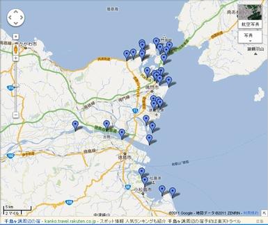 徳島県釣り場マップ