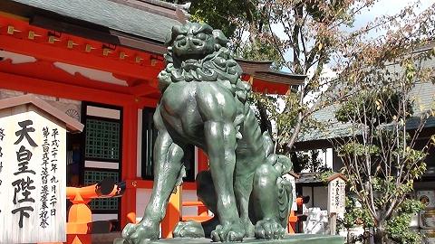 拝殿前 狛犬 阿