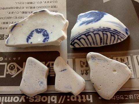 櫛木西海岸の陶片