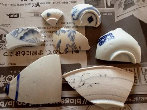 竜宮の磯の陶片(表)