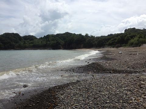 豚皇前の浜