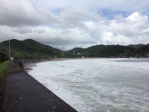 帰りに寄った田井ノ浜