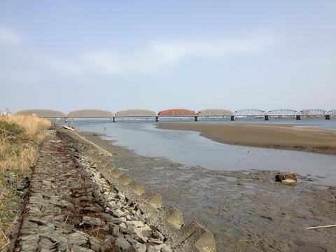 吉野川橋北岸