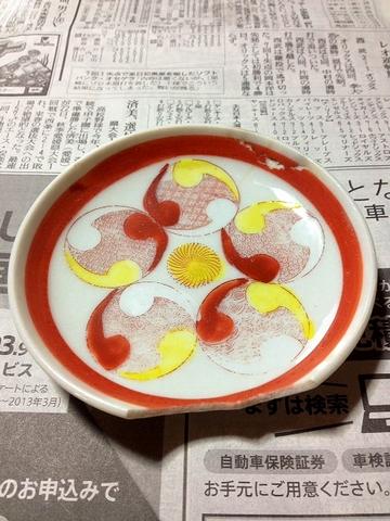色絵の小皿