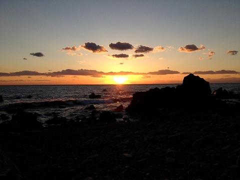 羽根の浜の日没