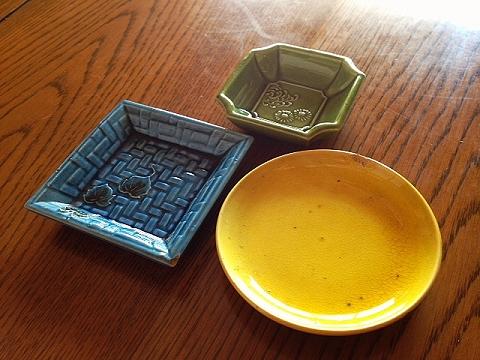 �平焼豆皿三種