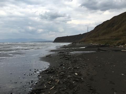 海岸段丘へ向かって