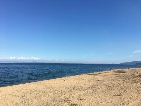 岩戸川河口の浜