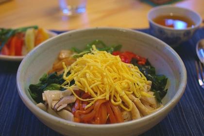 黒米入り彩り野菜のまぜまぜご飯