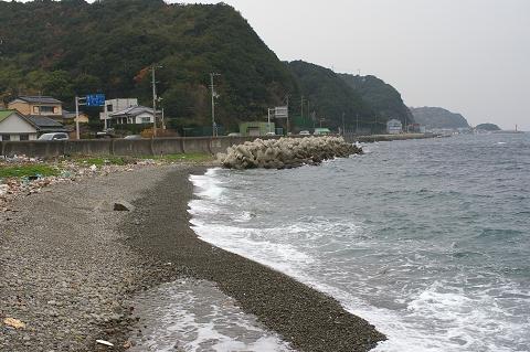 今日の櫛木海岸